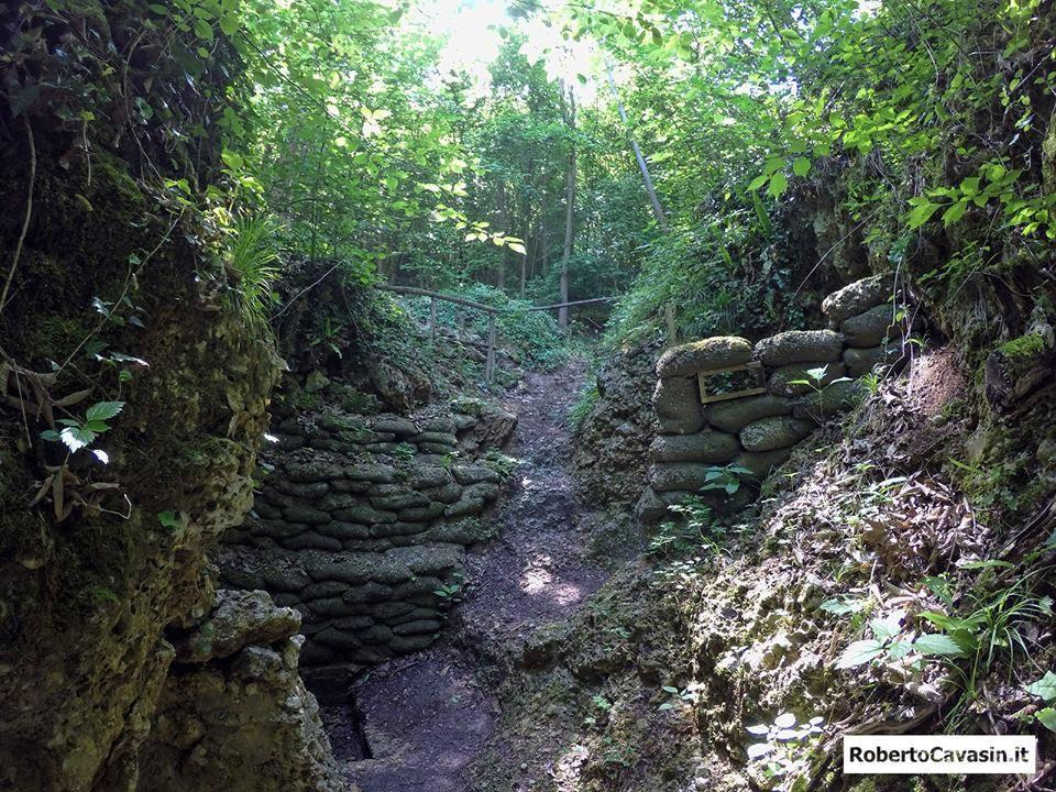 Escursione nelle Trincee e fortificazioni della Prima Guerra Mondiale sul Montello (TV)