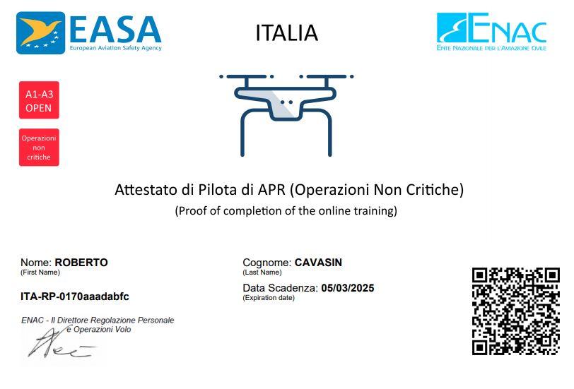 Certificazione Pilota Drone ENAC